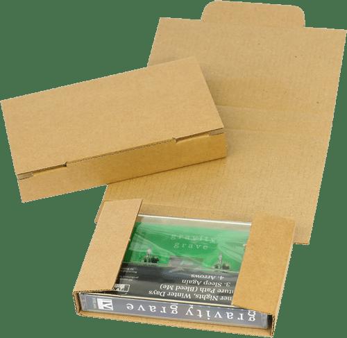 Audio cassette tape cardboard mailers