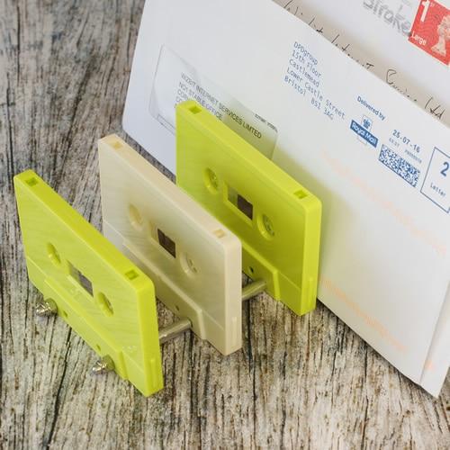 Cassette tape letter rack