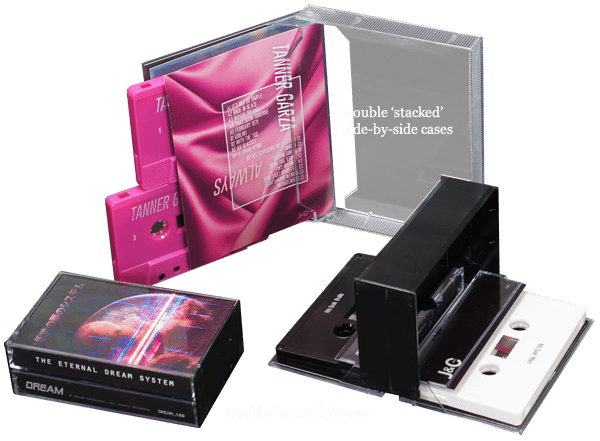 Double cassette set duplication in butterfly cases