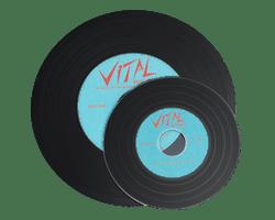 Mini 8cm vinyl effect CD