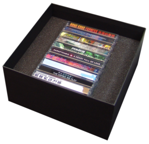 Rigid board ten cassette tape box set