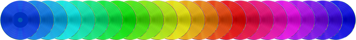 Custom colour vinyl-effect CDs