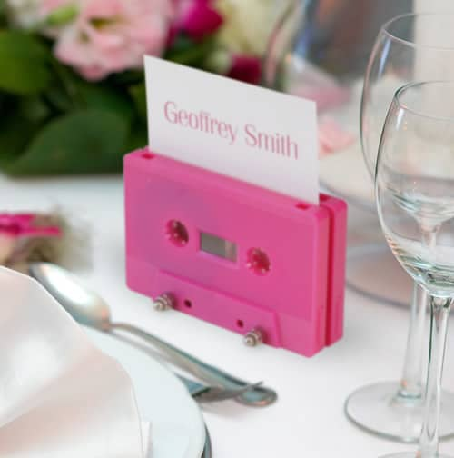 Cassette tape table name place holder