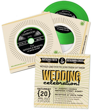 custom wedding invitation CDs