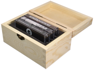 Wooden cassette triple box set