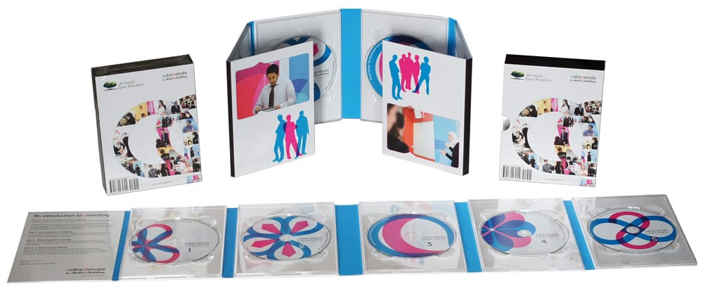 12 page DVD size digipacks with 5 disc trays