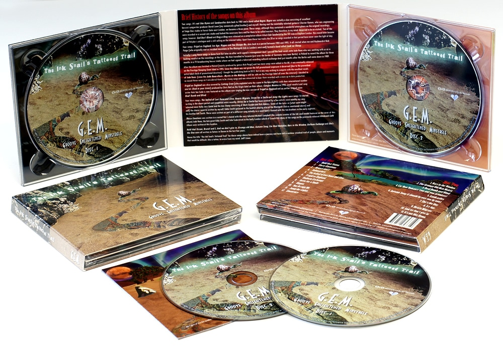 6 page digipaks with 2 disc trays and pocket for a 16 page booklet