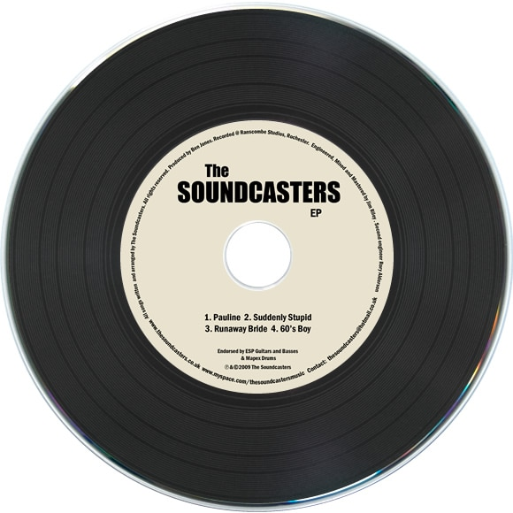 Black vinyl CDs