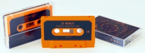 Tangerine orange cassettes with full colour sticker printing and matching J-cards