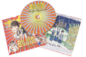 Colourful CDs in 2 page printed card wallets