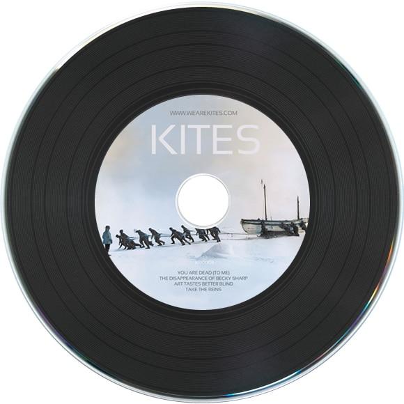 Vinyl CD duplication in vinyl record-style card wallets