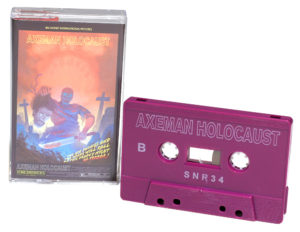 Blackberry purple cassettes with white on-body printing and full colour cassette case J-cards