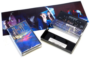 Black cassettes with on-body printing and 8 page J-card inserts, download code and cellophane wrapping