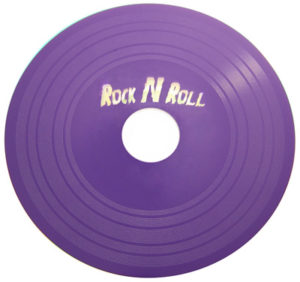 Vinyl DVD printed in a custom Pantone purple colour
