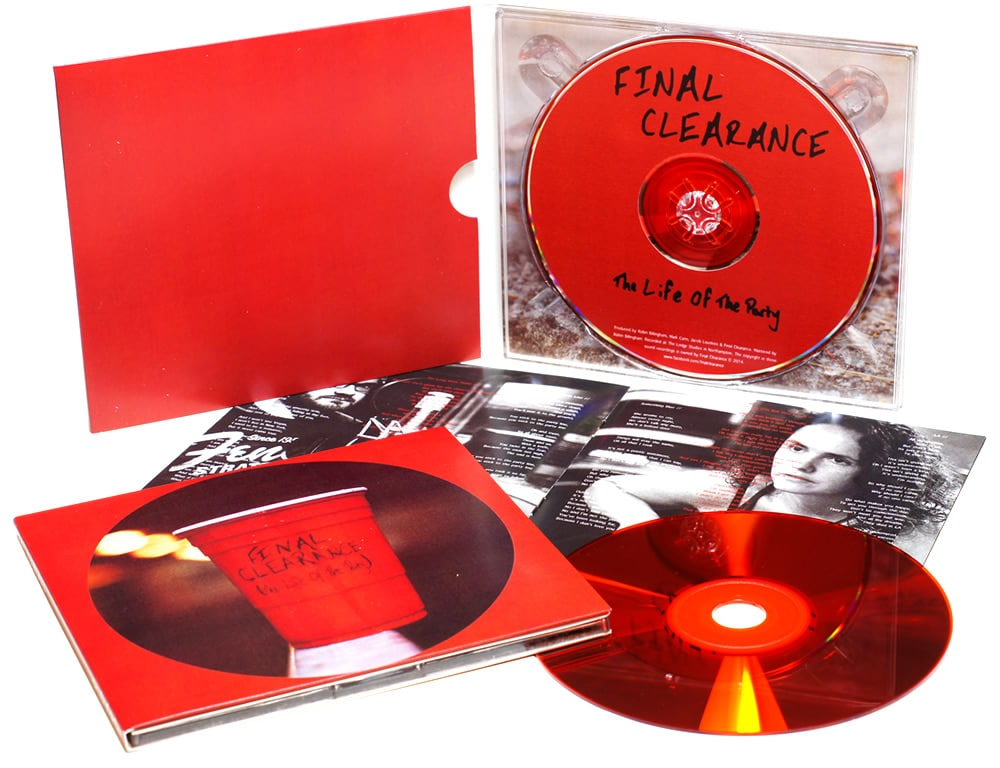 4 page digipaks with a gloss red CD and booklet included