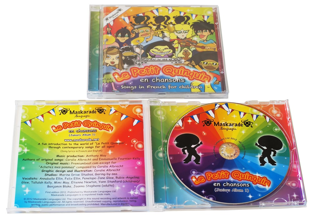 CDs with clear trays, double sided rear inlays and large 20 page booklets