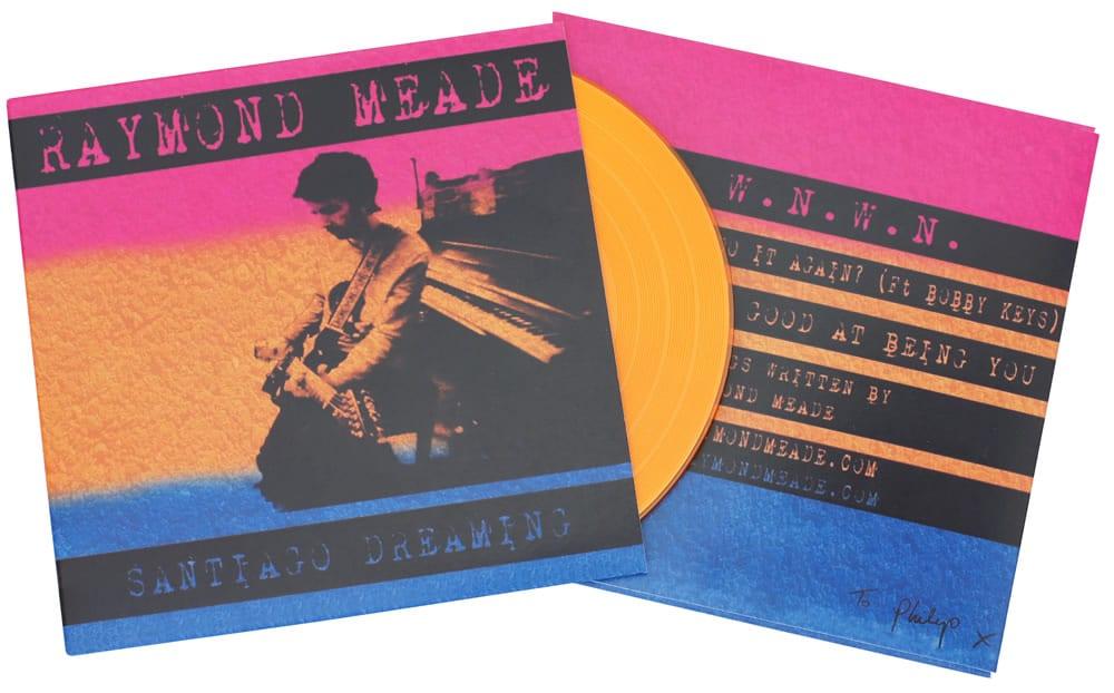 Full colour printed card wallet and orange vinyl CD