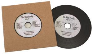Vinyl CDs in plain manila record-style card wallets