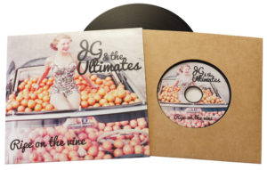 Vinyl CDs in plain manila card wallets with a larger outer printed wallet and finished with cellophane wrapping