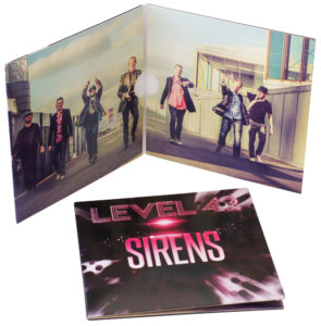 4 page double CD wallets with a gloss finish
