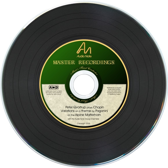 Black vinyl CD example
