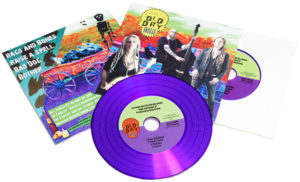 Colourful premium vinyl CD outer wallets with white inner sleeves