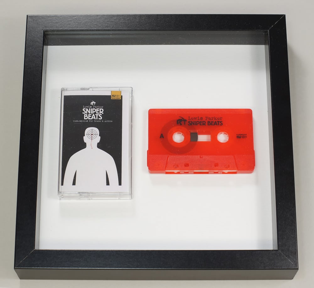 Audio cassette square presentation frame