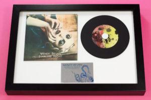 CD presentation A4 frame with premium vinyl oversized wallet and black vinyl CD