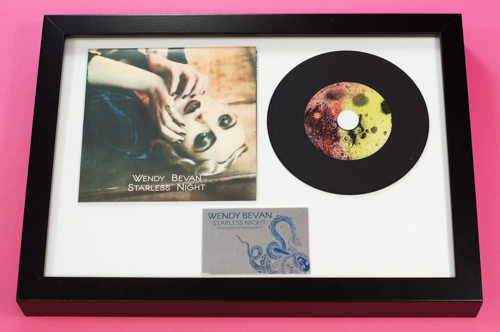 CD presentation A4 frame with premium vinyl oversized wallet and black vinyl CD