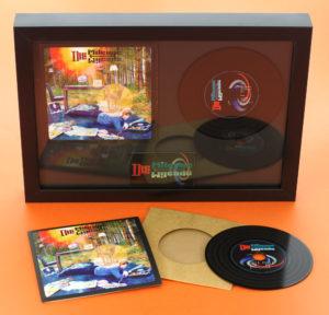 Premium vinyl CD wallets in presentation frame