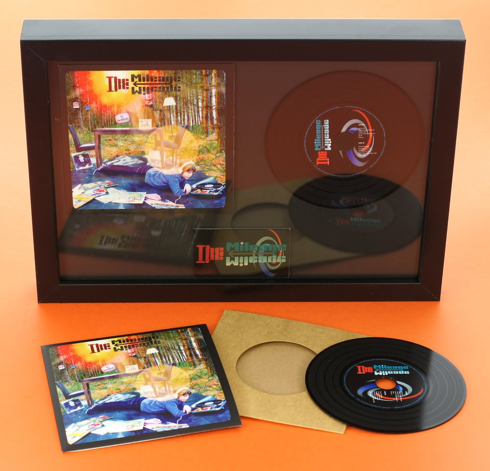 Premium vinyl CD wallets in presentation frame