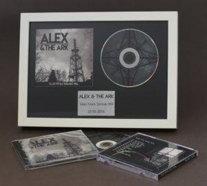 CD booklet and 12cm disc in presentation frame