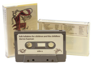 Cocoa brown cassette shells in our cream cassette cases with colour-matched J-card inserts