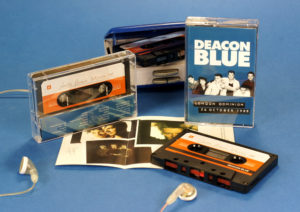 A two thousand run of two hour long black cassettes with classic retro stickers and J-card with additional panel