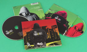 A great looking set of silk laminated CD wallets and digipaks with standard CDs, full colour printed throughout