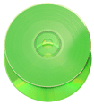 Green vinyl effect CD