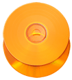 Orange vinyl effect CD