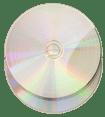 Silver vinyl effect CD