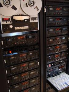 Audio cassette tape duplication Tascam 302 racks