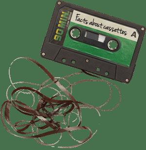 Chewed cassette tape reel