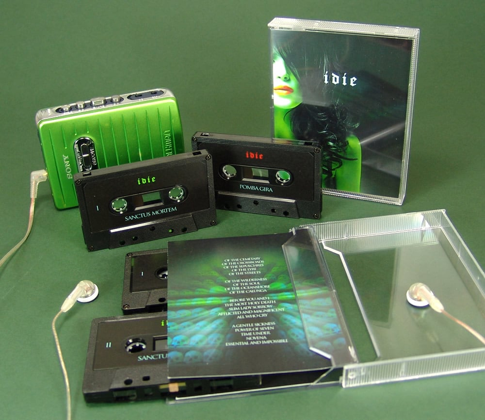 A set of double cassettes in a stacked case with full colour U-cards