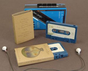 Brown Manila recycled J-cards with petrol blue cassettes