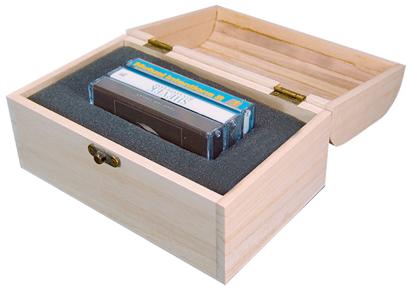 wooden cassette box set treasure chest triple cassette set