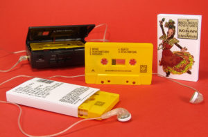 Yellow cassettes with black on-body printing in printed o-cards