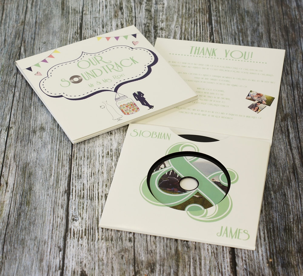 Custom printed wedding favour CDs and wedding invitation CDs | Band CDs