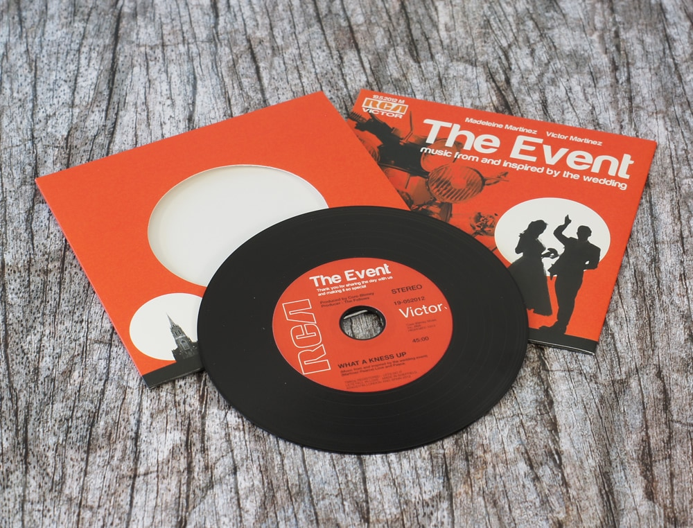 Custom printed wedding favour CDs and wedding invitation CDs ...