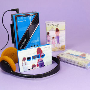 Blue cassettes with full coverage, full colour UV LED printing