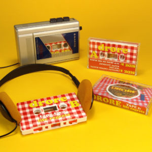 White cassettes with full coverage 'tablecloth' printing