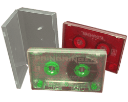 Cassettes in clear polycases