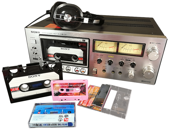 Elcaset master analogue cassette tape duplication